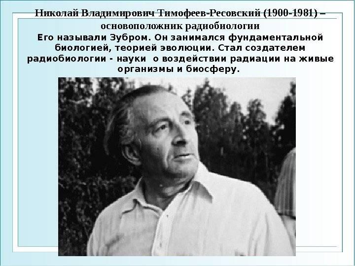 Тимофеев-ресовский, николай владимирович — википедия. что такое тимофеев-ресовский, николай владимирович