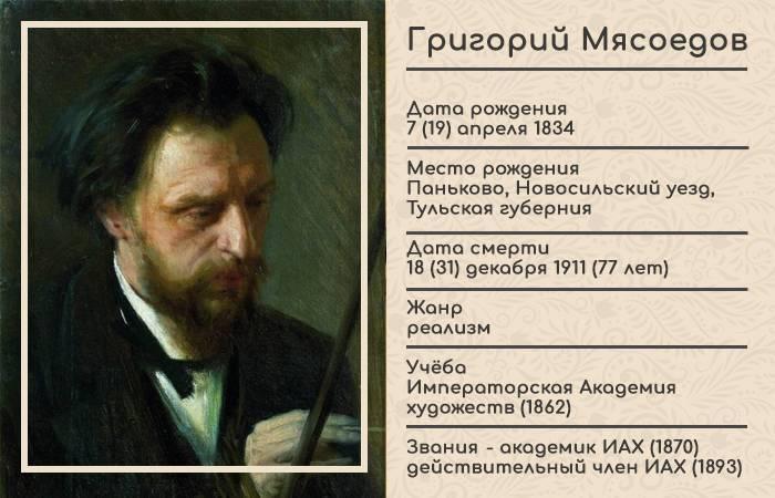 Мясоедов григорий григорьевич: биография, картины