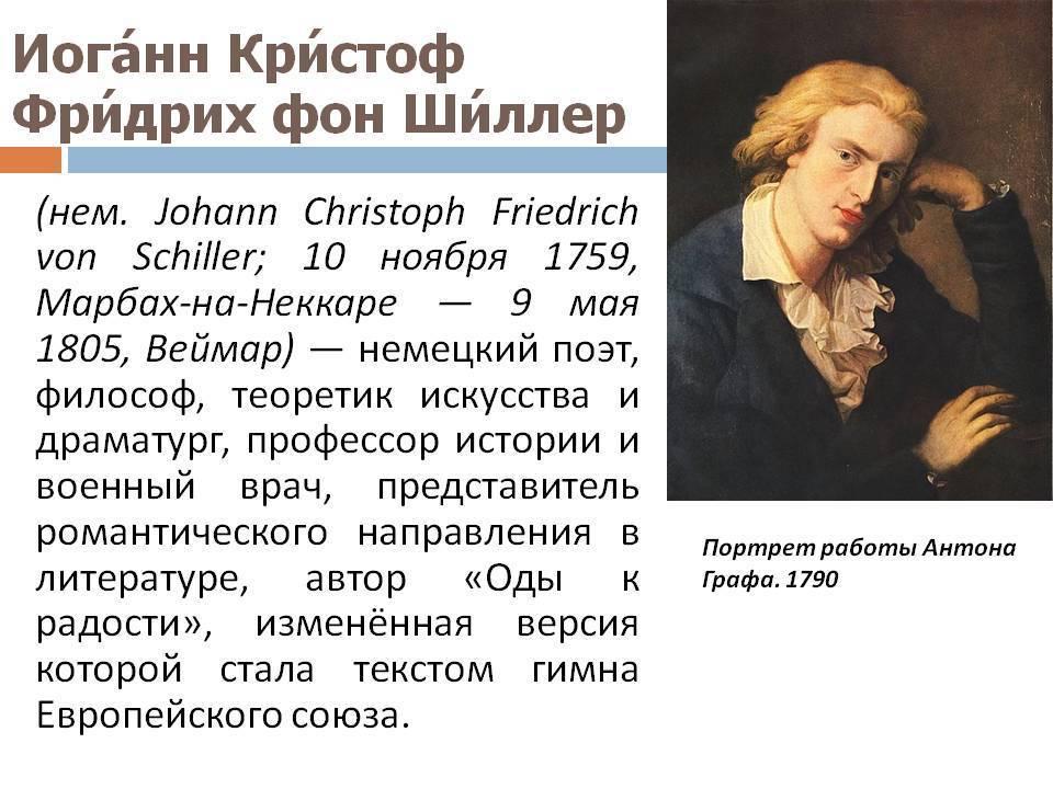 Шиллер, Иоганн Кристоф Фридрих