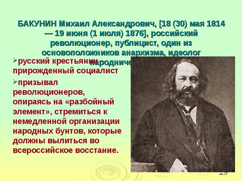 Бакунин михаил александрович. 100 знаменитых анархистов и революционеров