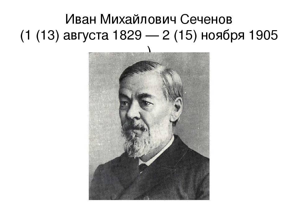 Иван михайлович сеченов - биография, информация, личная жизнь