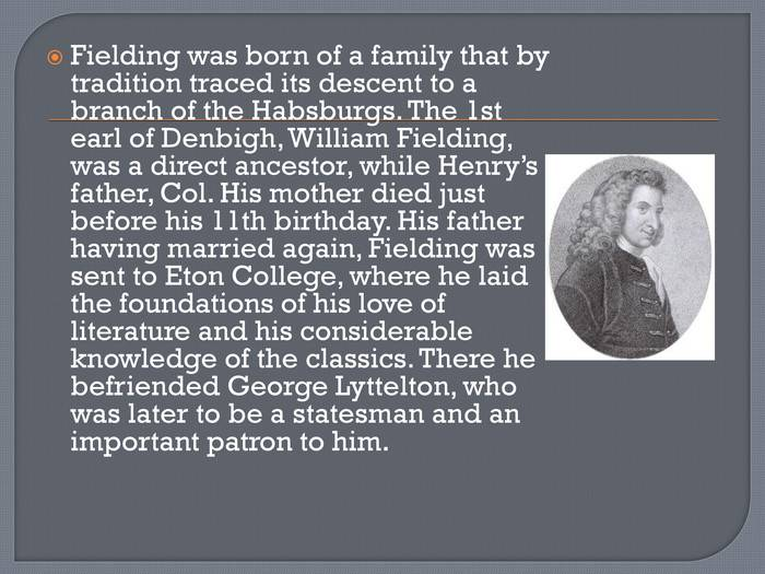 Henry fielding biography, life, interesting facts