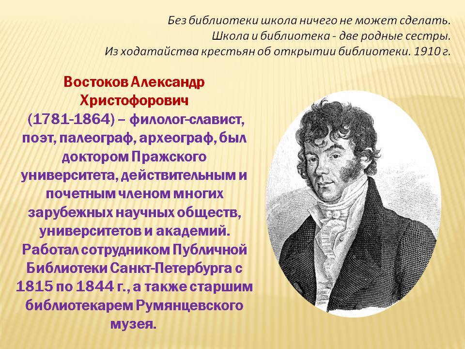 Востоков Александр Христофорович