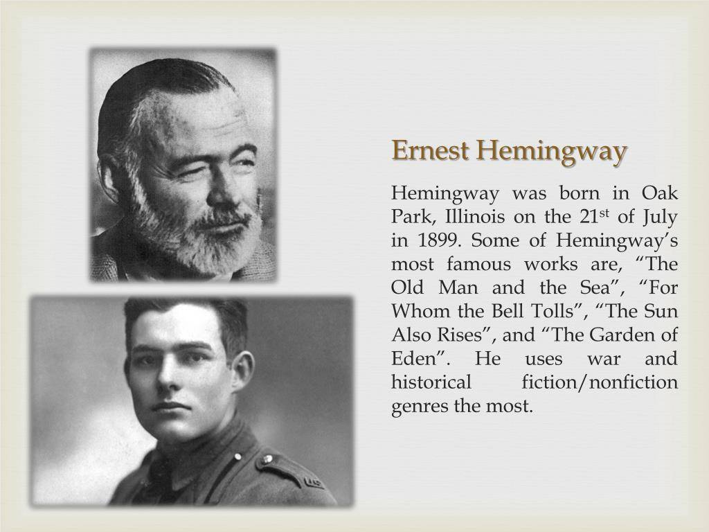 Эрнест хемингуэй: краткая биография, фото и видео