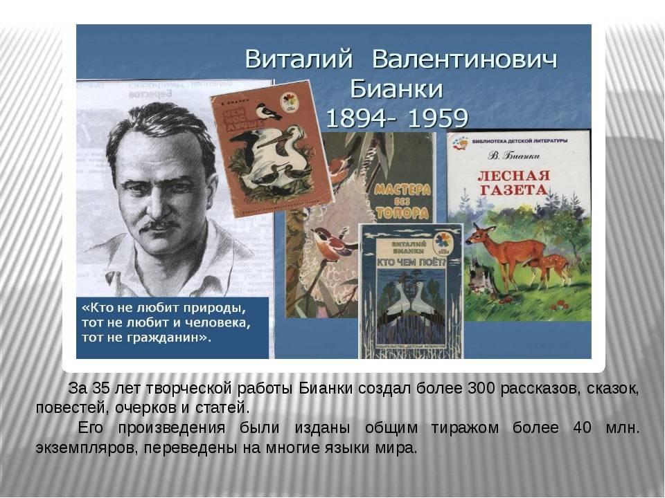 Виталий бианки: биография писателя ожившего леса