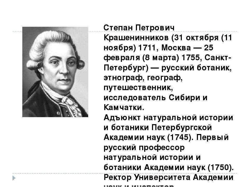 Степан петрович крашенинников - вики