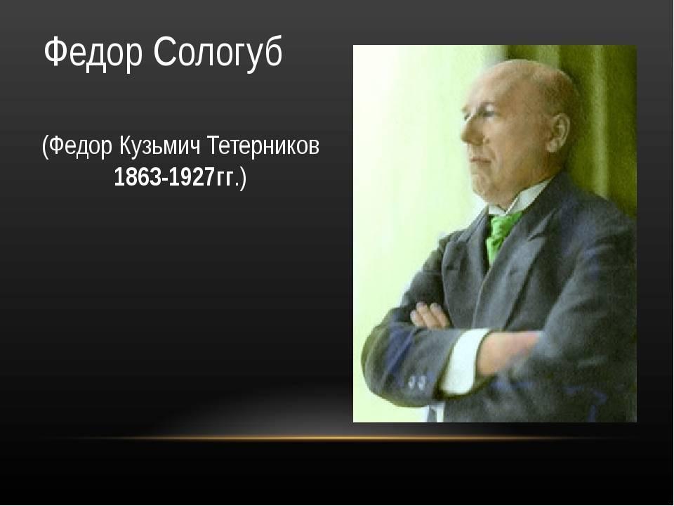 Биографияфедора кузьмичасологуба