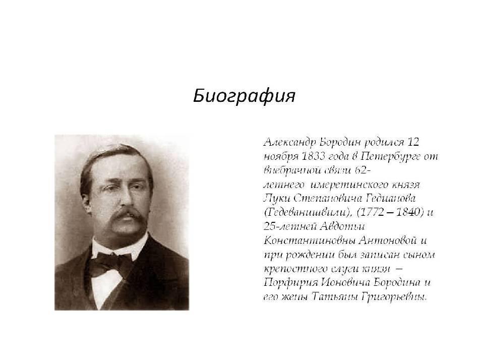 Биография александра бородина