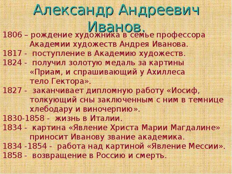 Иванов александр андреевич картины