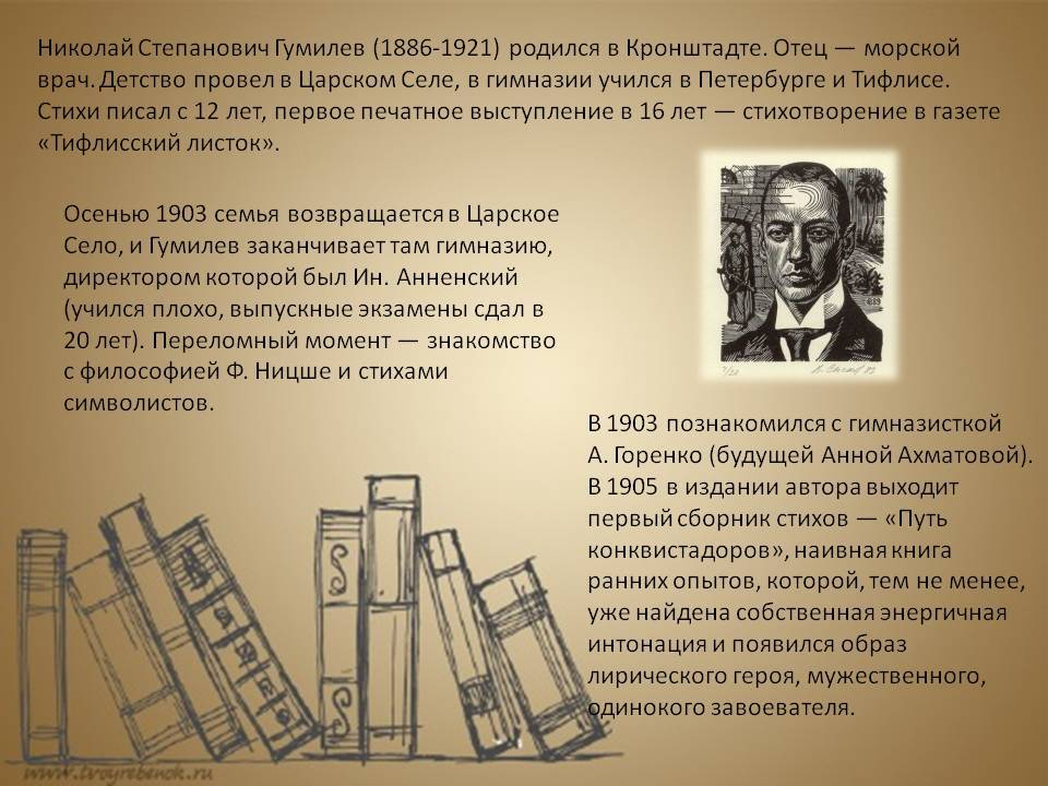 Гумилев николай степанович — краткая биография