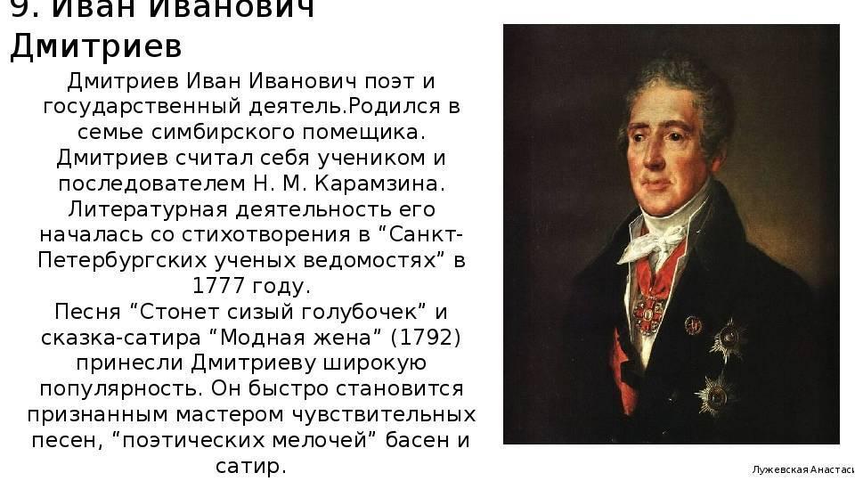 Иван дмитриев: биография