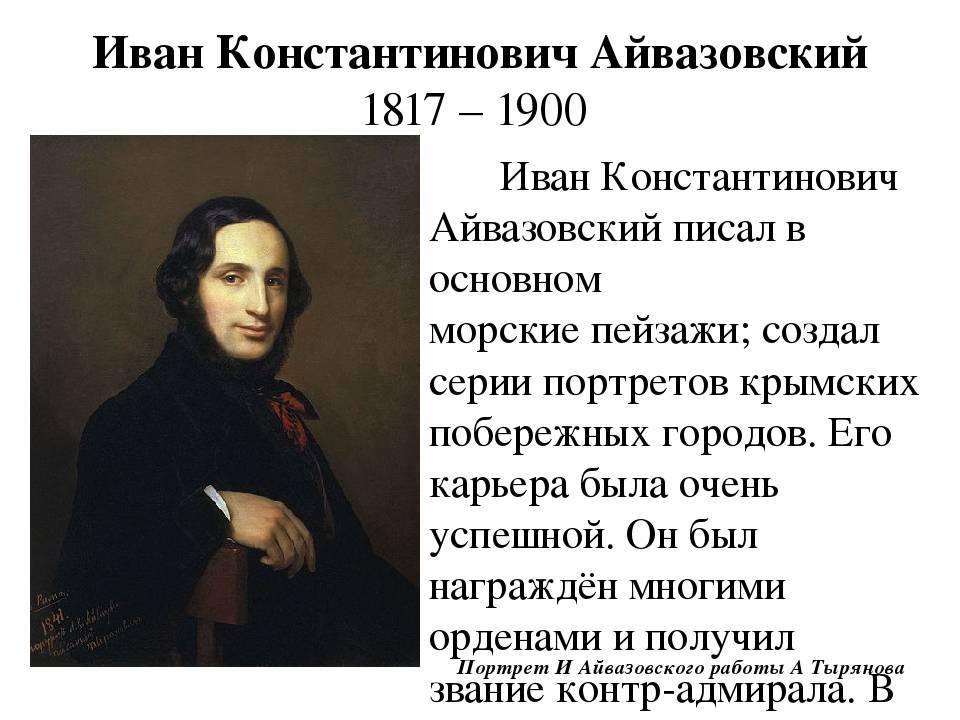 Биография айвазовского и. к.