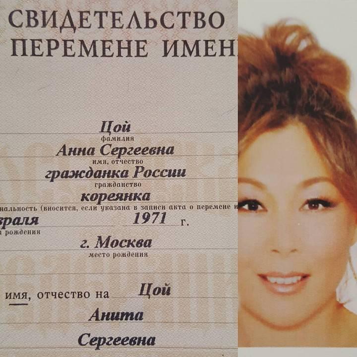 Биография Аниты Цой