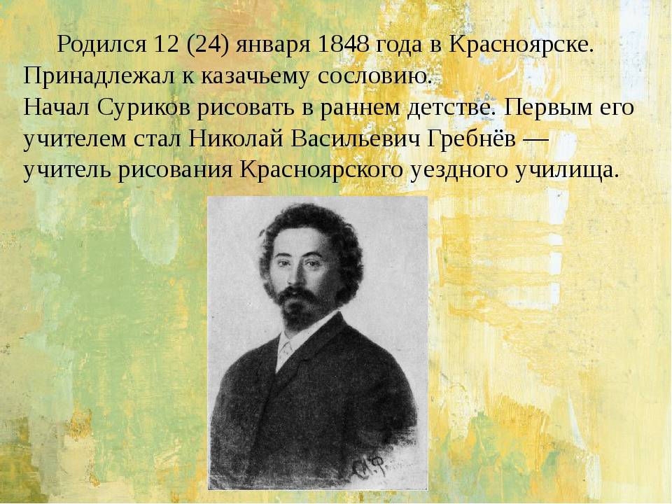 Василий суриков — путешественник во времени: биография и самые известные картины