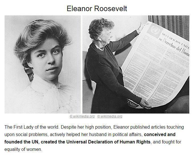 Элеонора рузвельт — биография | исторический документ