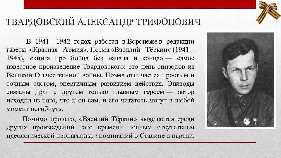 Биография александра твардовского > точка-ру