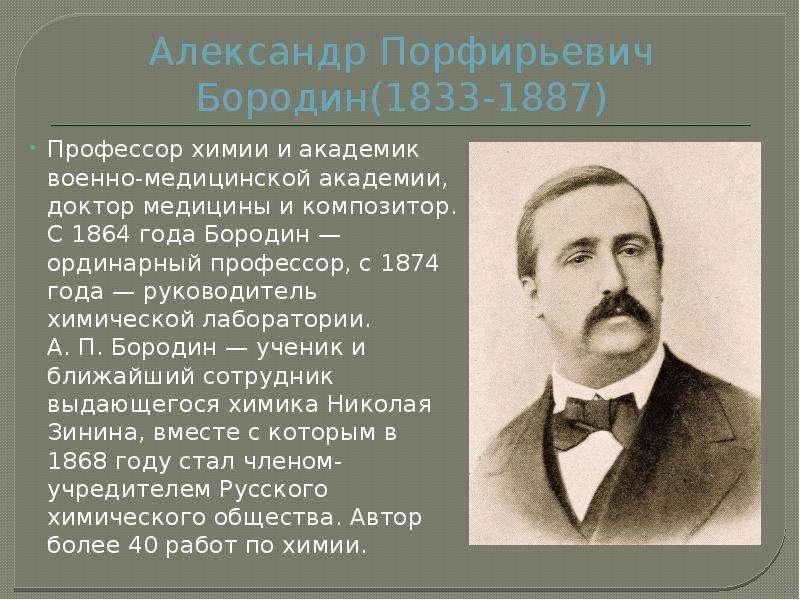 Краткая биография александра бородина самое главное