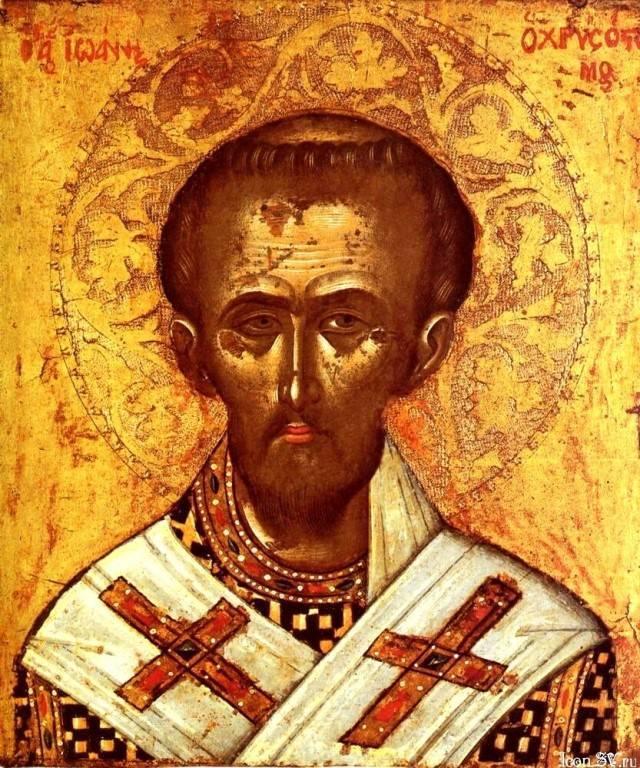 Биография и житие святителя иоанна златоуста, день памяти и в чем помогает икона