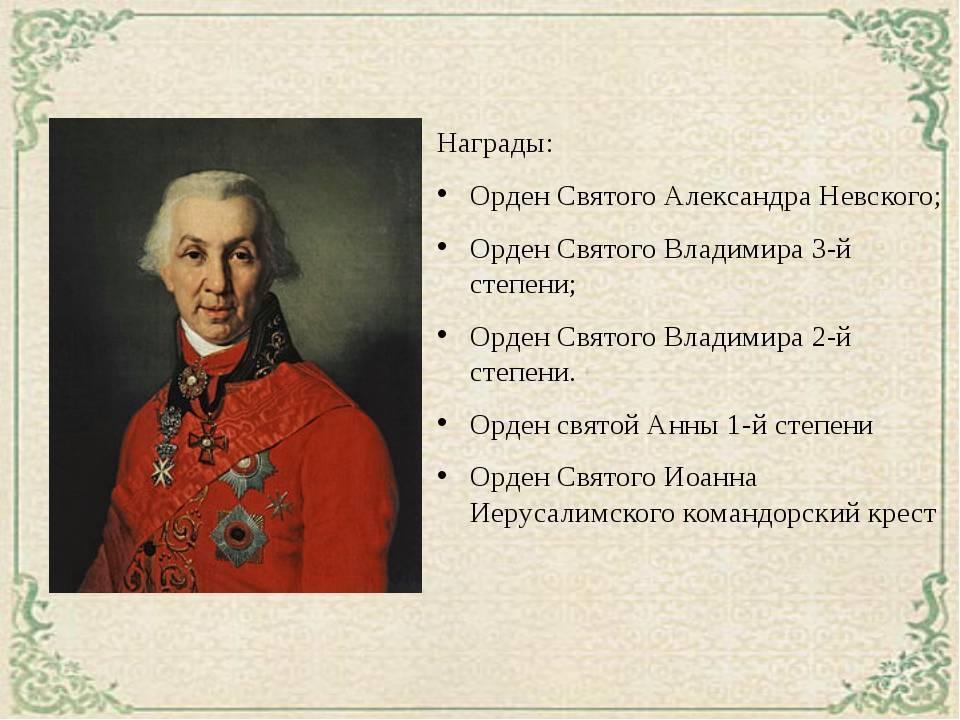 Доклад про державина гавриила романовича