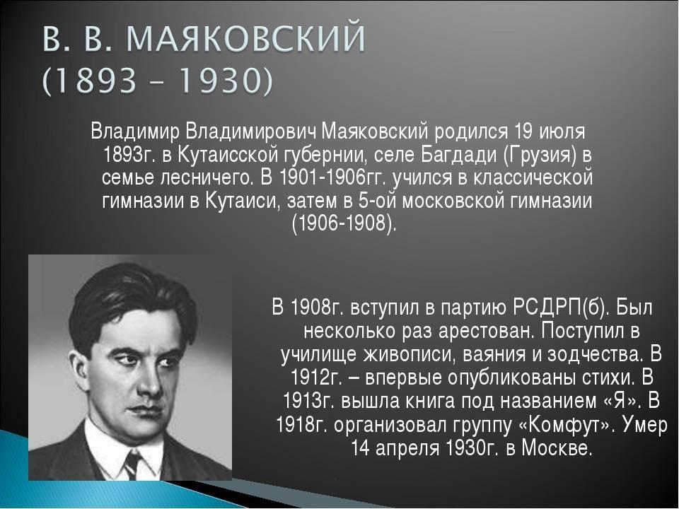 Cтихи владимира маяковского - читать стихотворения на портале поэта