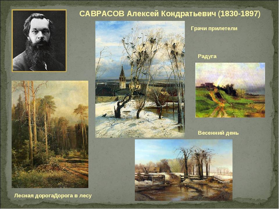 Самые известные картины саврасова: фото с названиями 10 лучших произведений знаменитого художника