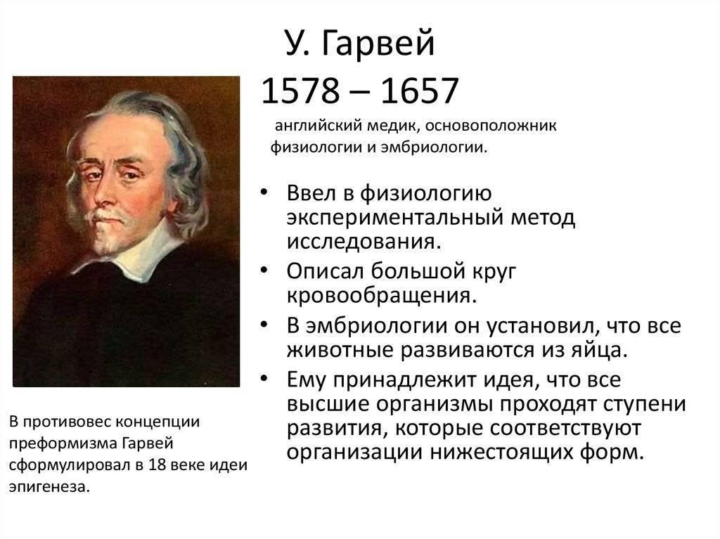 Гарвей уильям - исторические личности в медицине