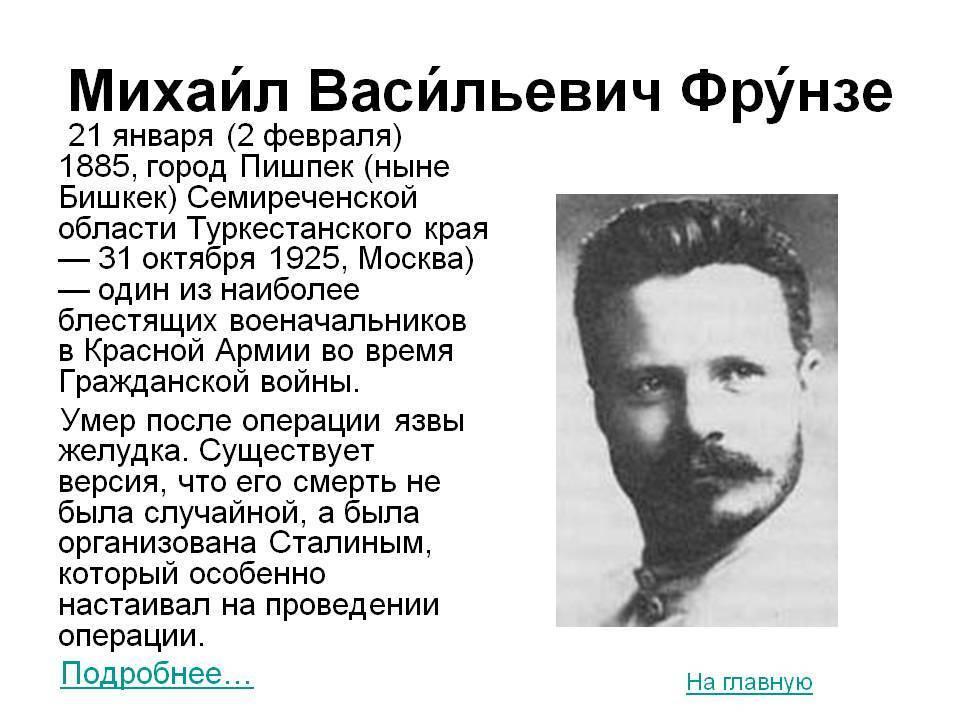 Фрунзе михаил васильевич   мир чудес