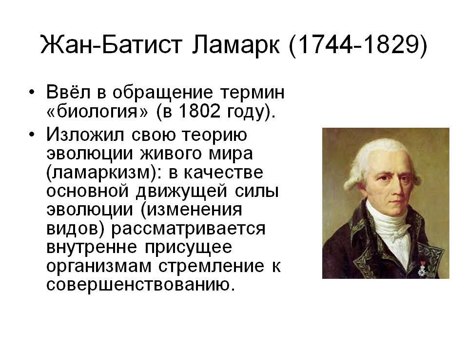 Французский ученый жан батист ламарк: биография, семья, вклад в биологию :: syl.ru