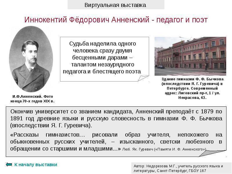 Иннокентий анненский — русская поэзия «серебряного века»