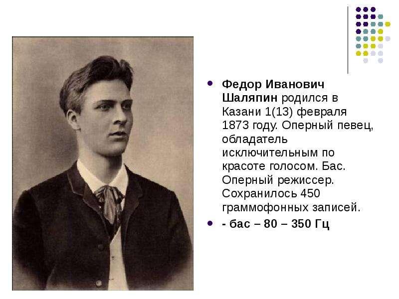 Выдающийся бас россии: краткая биография федора шаляпина