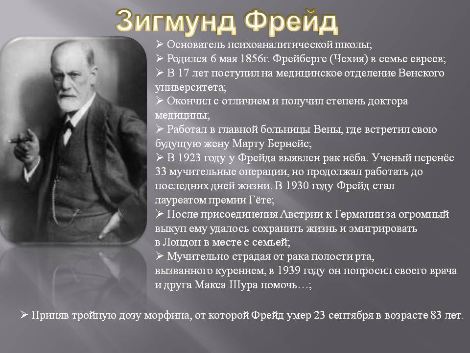 Как умирал зигмунд фрейд: причины, где похоронен - psychbook.ru