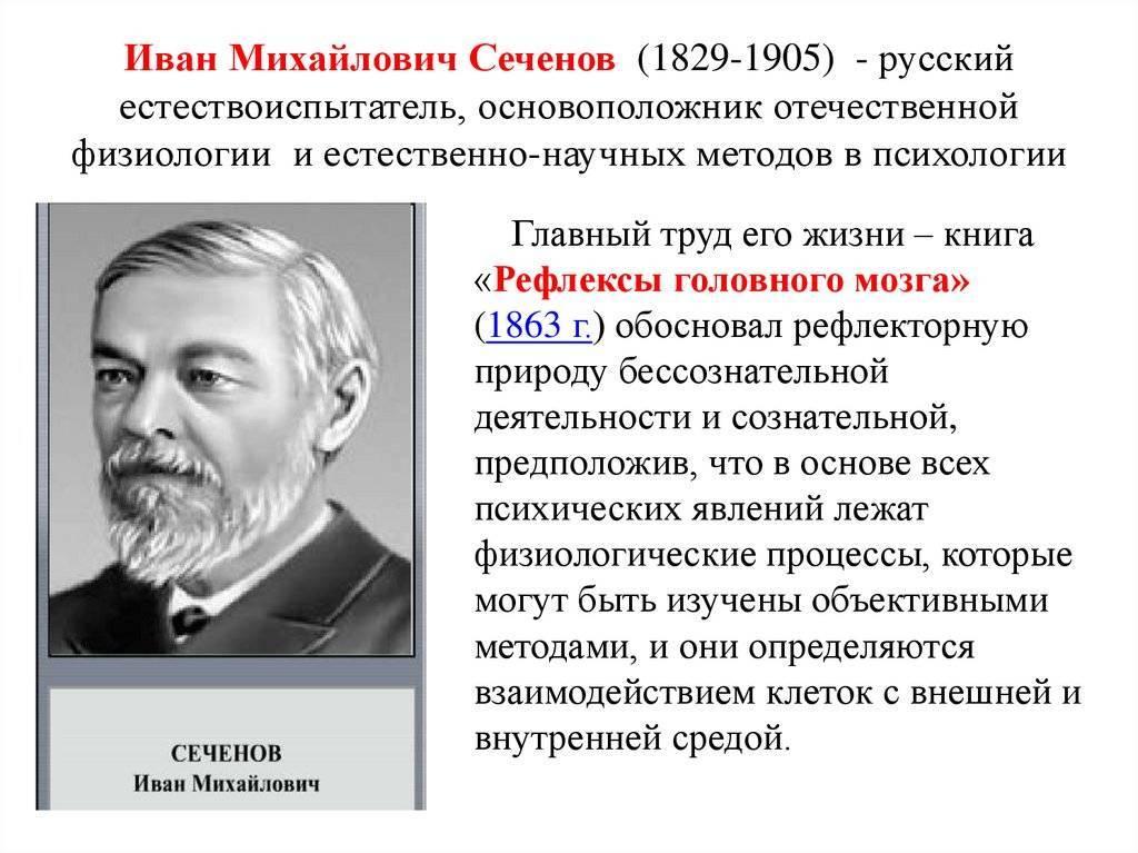 190 лет со дня рождения ивана михайловича сеченова