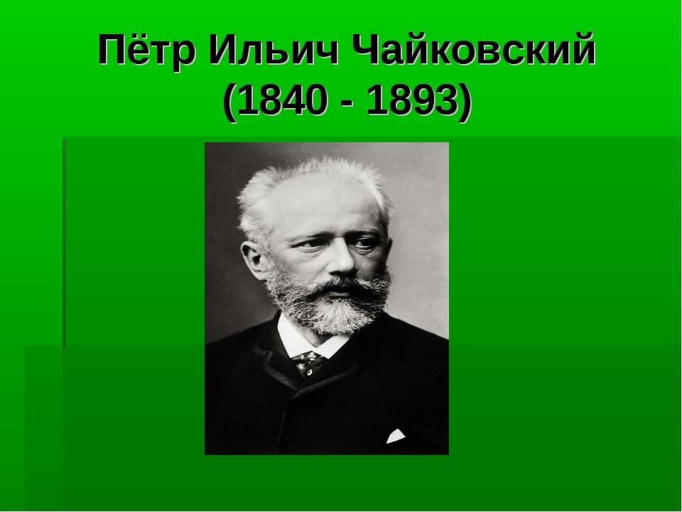 Краткая биография чайковского, творчесвто композитора петра ильича для детей