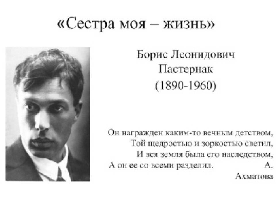 Борис пастернак — краткая биография