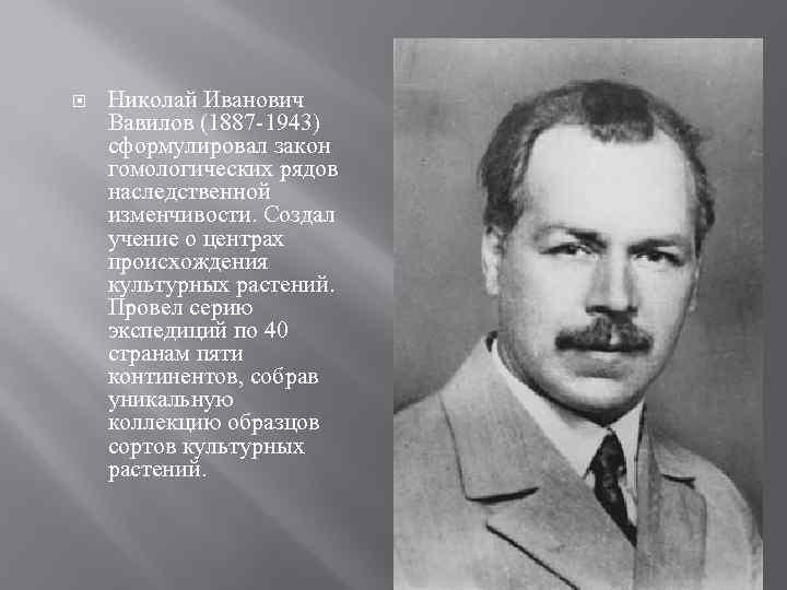 Николай иванович вавилов — знаменитый советский биолог