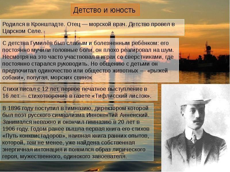 Биография гумилёва