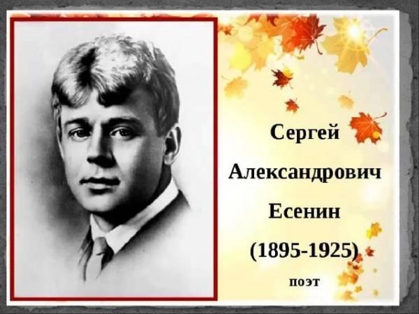 Сергей есенин — краткая биография поэта