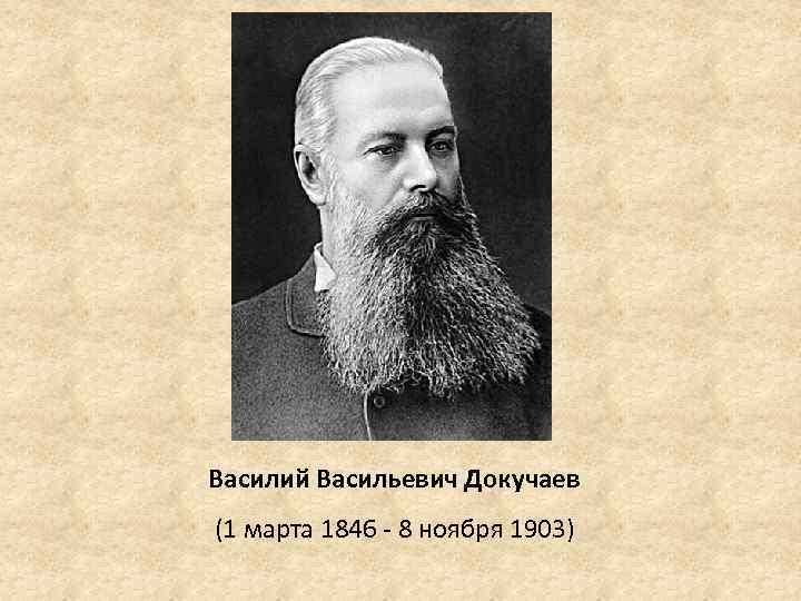 Биография Василия Докучаева