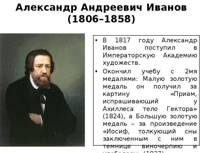 Русские художники. иванов александр андреевич.