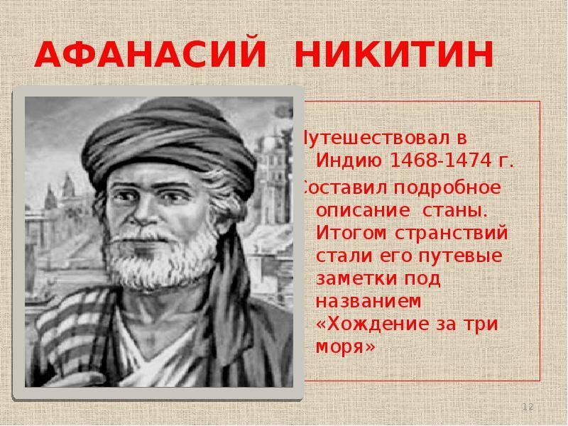 Никитин афанасий википедия