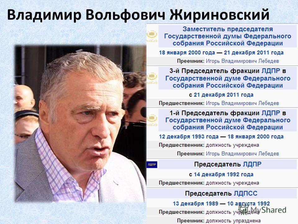 Владимир вольфович жириновский: биография, национальность, личная жизнь, фото