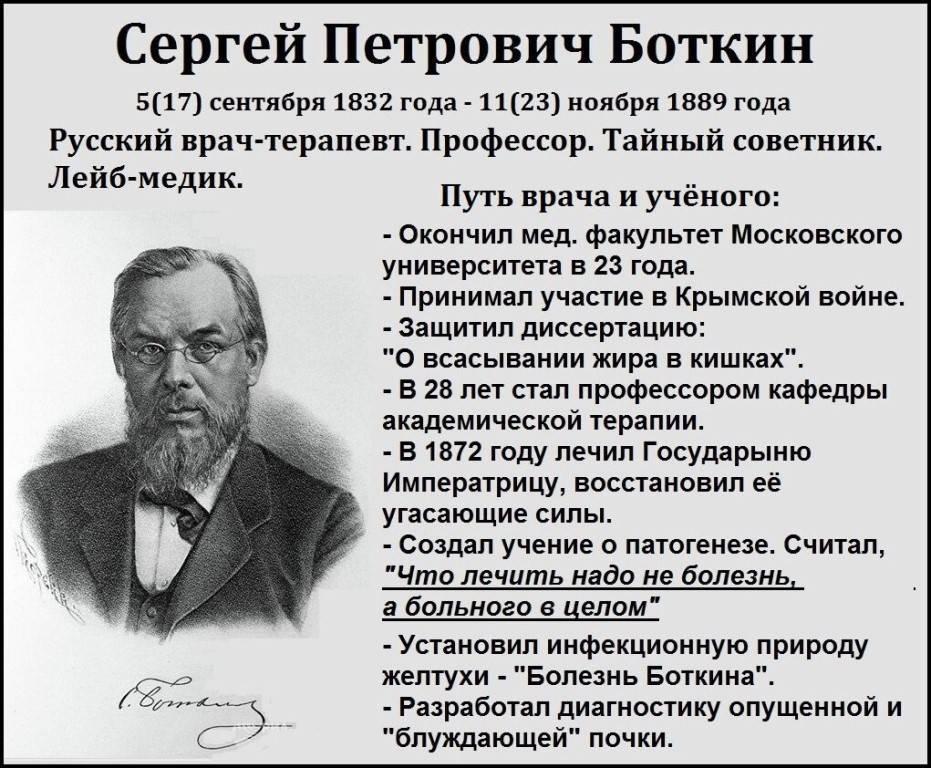 Боткин сергей петрович - исторические личности в медицине