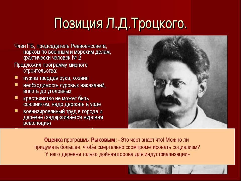 Троцкий лев давидович - биография и интересные факты