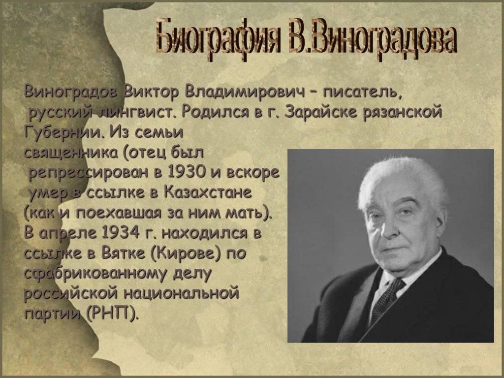 Виноградов, дмитрий иванович