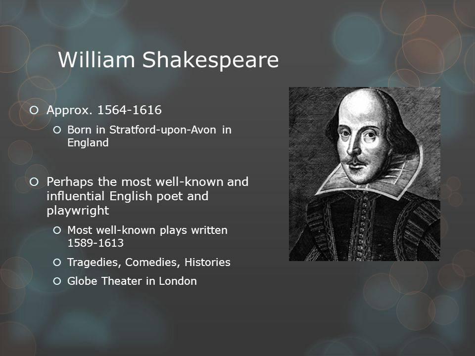 Уильям шекспир - биография