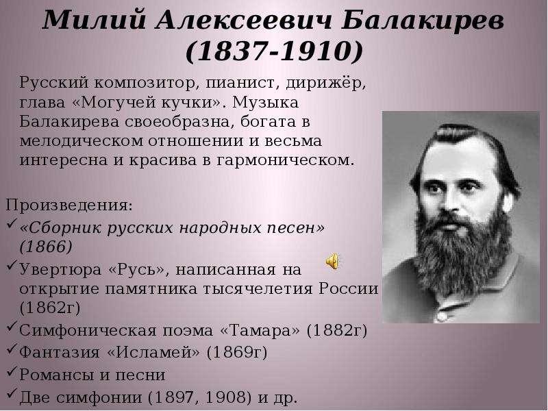 Милий балакирев википедия