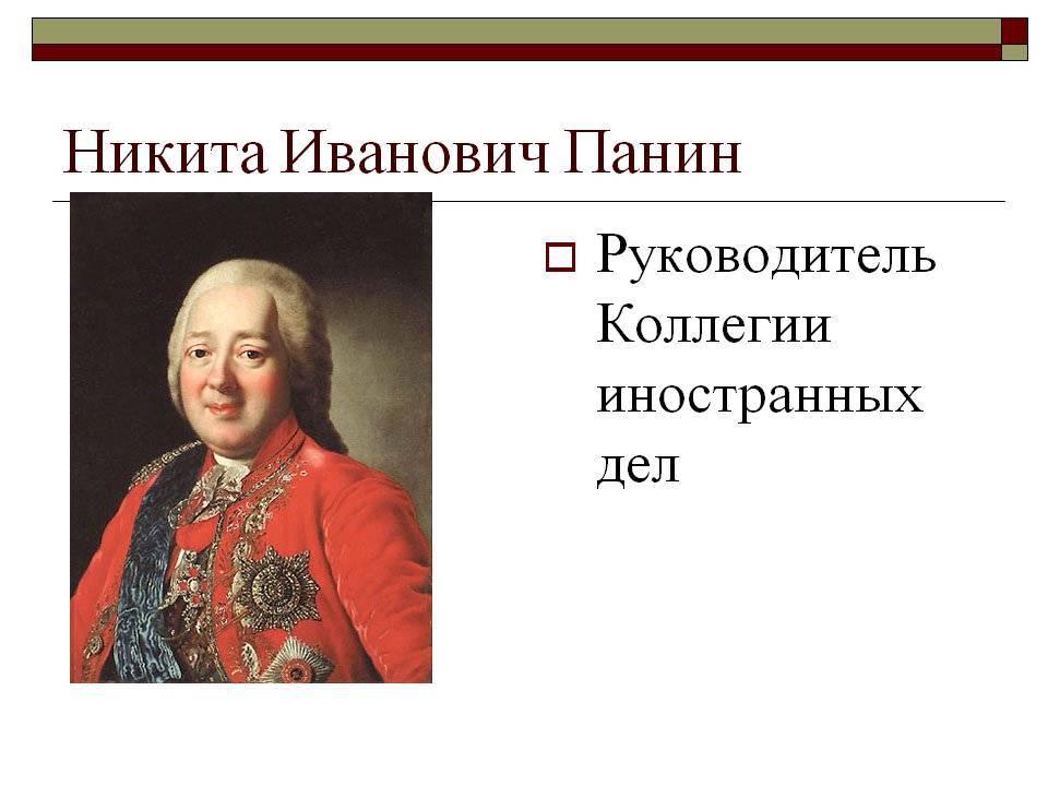 Панин, никита иванович - вики
