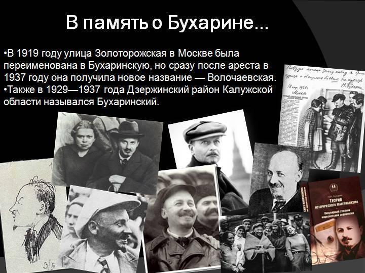Бухарин николай иванович