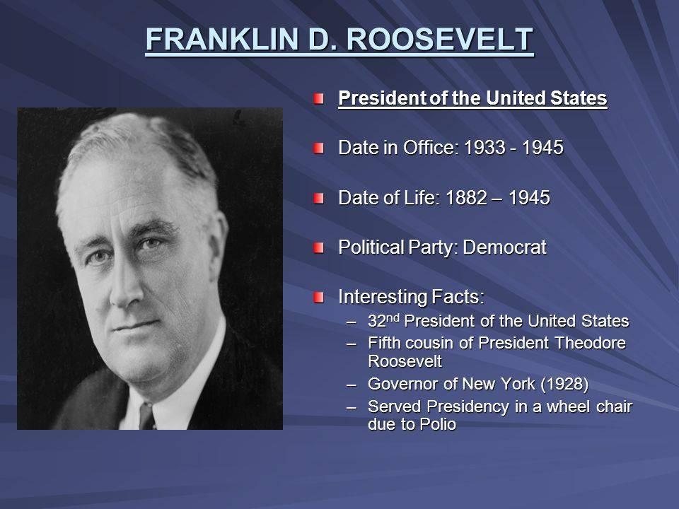 Франклин рузвельт: краткая биография