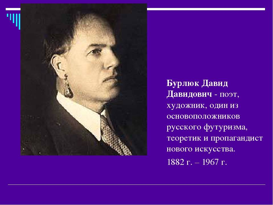 Давид бурлюк - основоположник русского футуризма